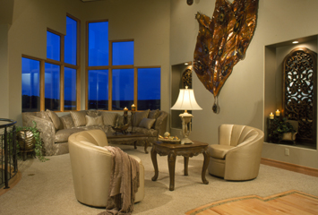 Living Room Custom Residential Construction
